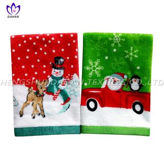 CT58 Printing/embroider cotton towel-christmas series.