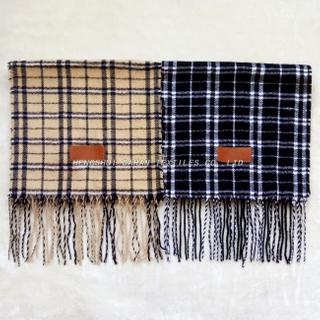100% acrylic fibers grid scarf.DH13