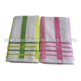 100%cotton solid color printing bath towel set BT09