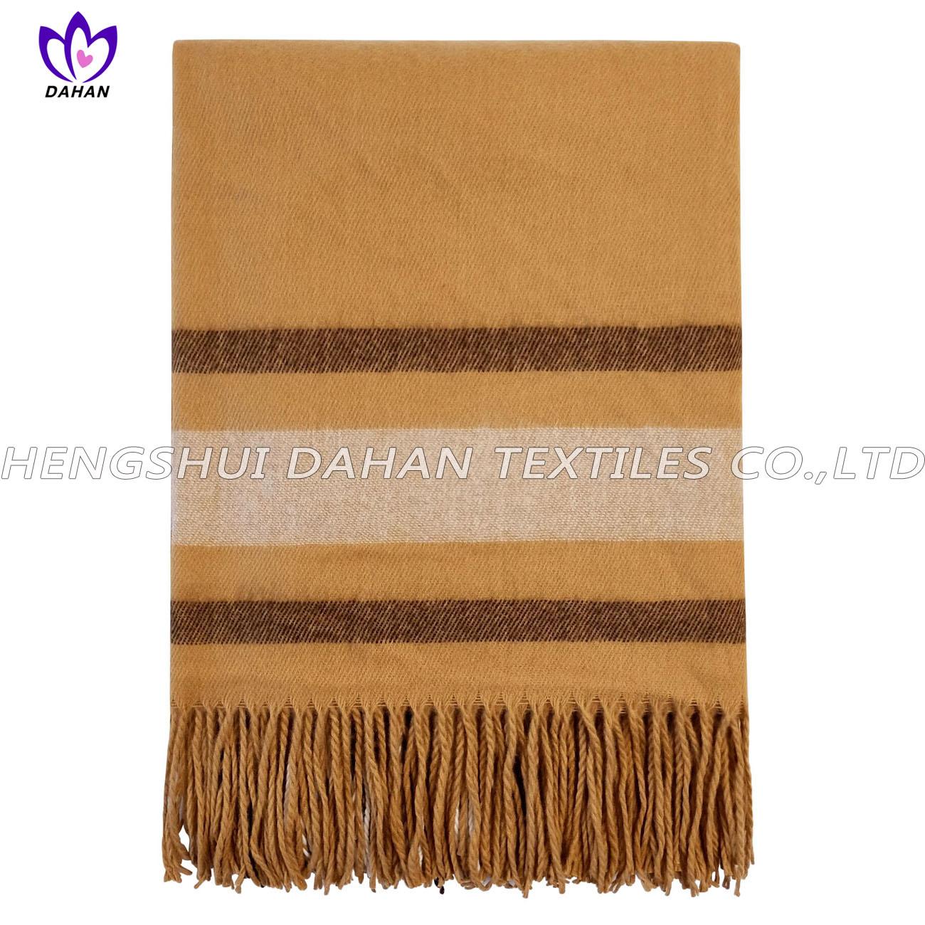 100%acrylic tassels scarf, blanket. BK21