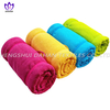 MC95 100%polyester plain colour microfiber towel,beach towel