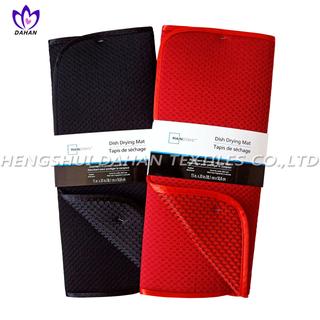 PM11 100%polyester plain colour dish drying mat.