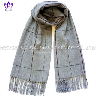 100% acrylic grid scarf shawl.DH09