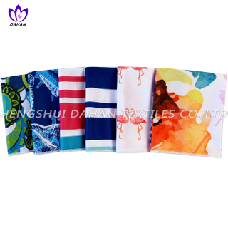 MC90 100%polyester printing microfiber cooling towel