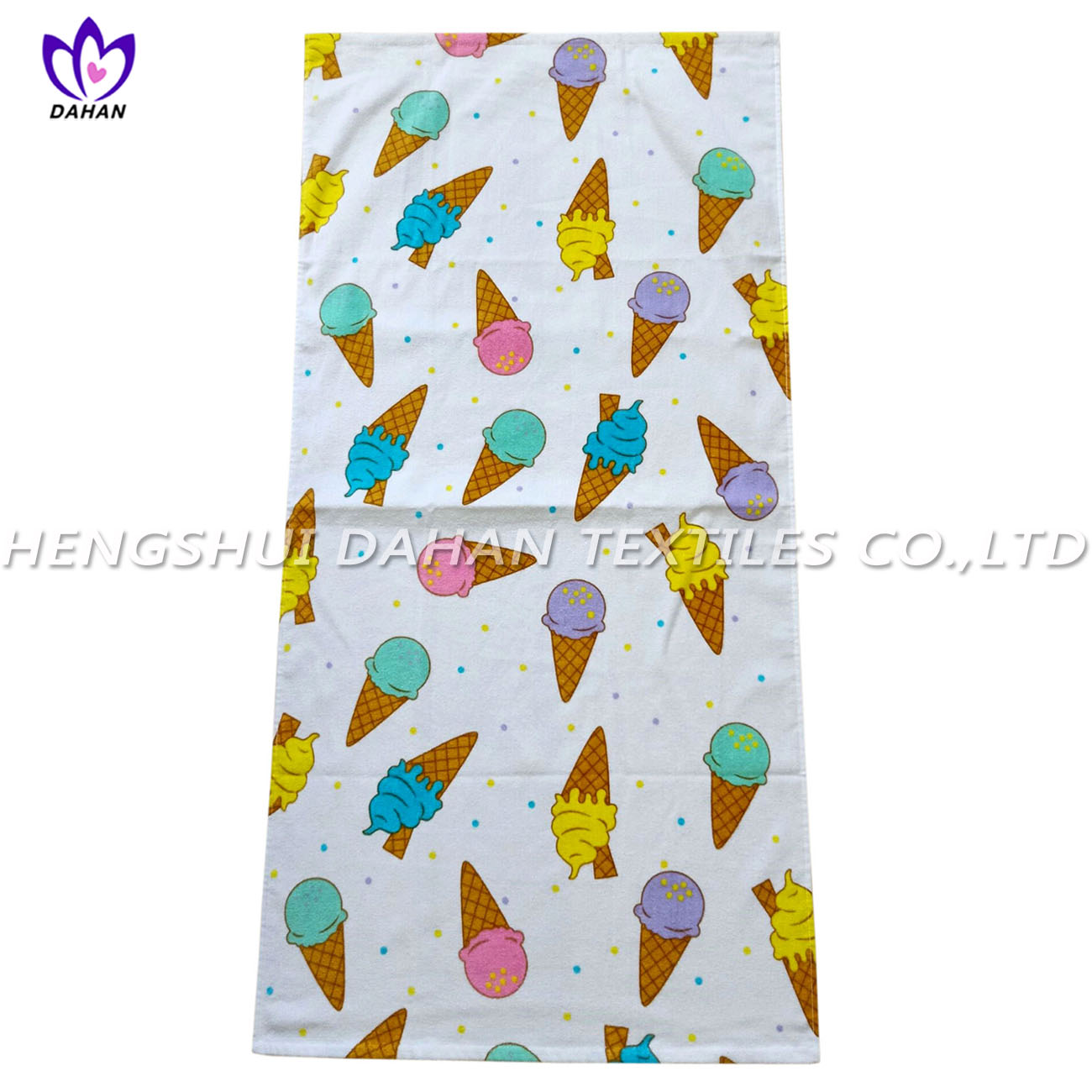 LL95 100%cotton reactive printing beach towel