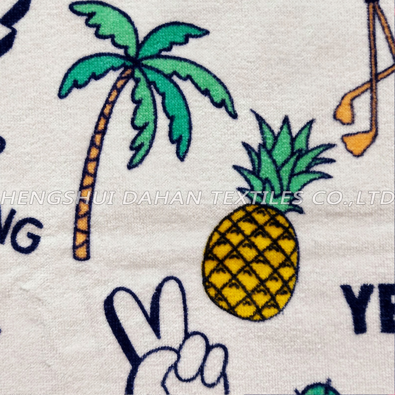LL69 100%cotton reactive printing beach towel