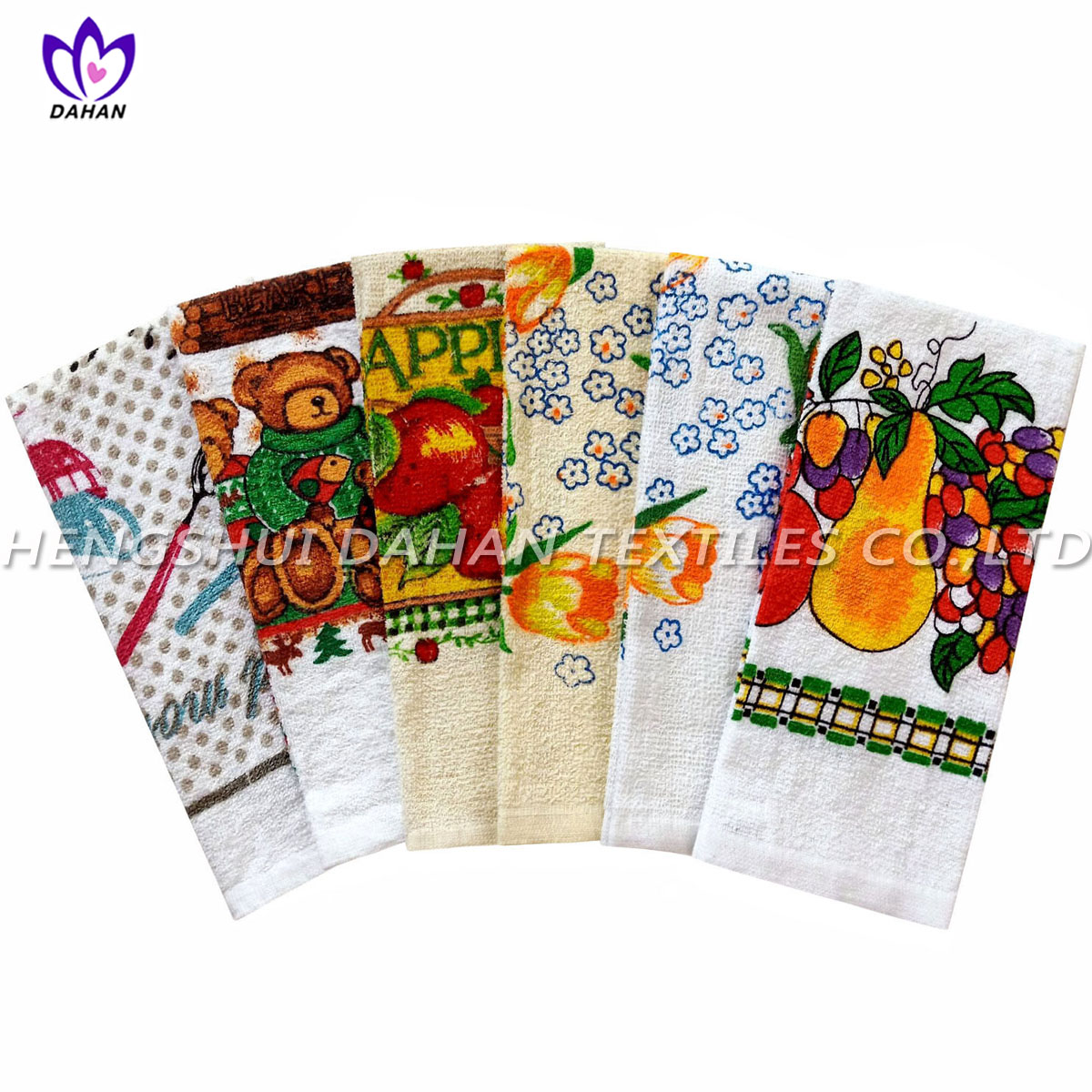 CT42 100% cotton printing kitchen towel.