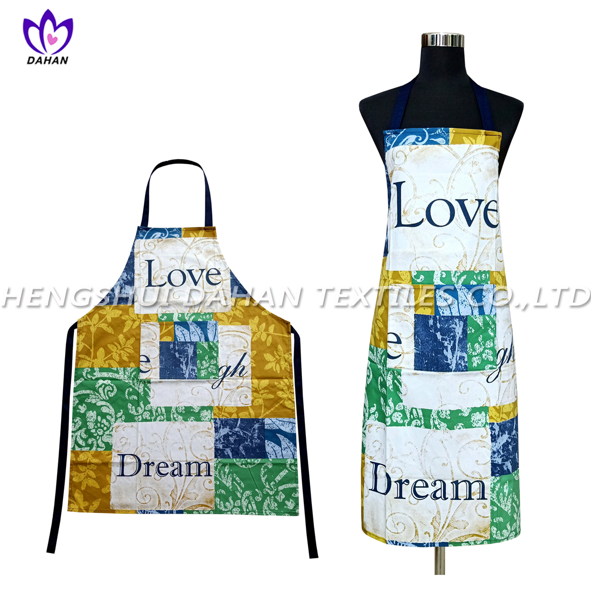 AGP74 100%cotton twill printing waterproof apron.