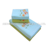 100%cotton solid color sanding embroidery face towel bath towel set BT08