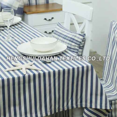 Better Homes and Gardens Multi-Stripe Table cloth -bule and white TP07