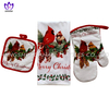 346F~2 printing glove,pot pad, microfiber towel 3pack--Christmas series