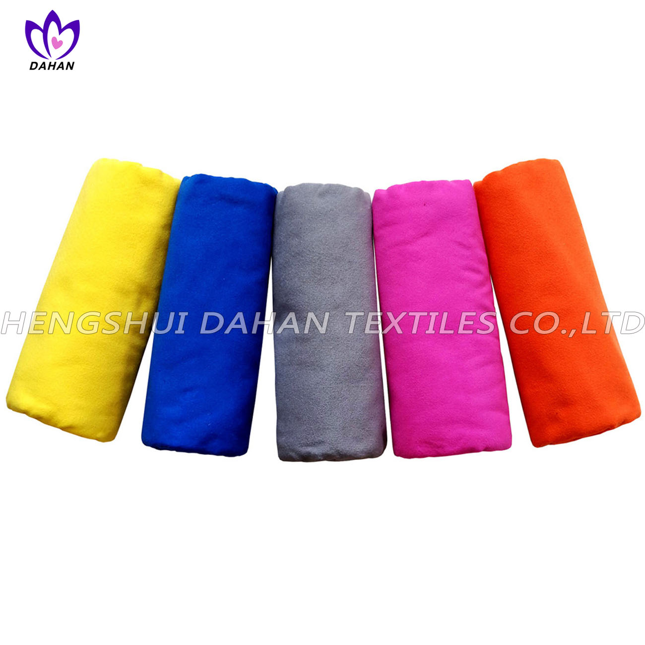 MS21 100%polyester pure color microfiber suede towel