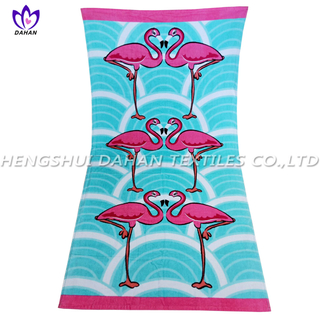 LL19 100%cotton reactive printing beach towel