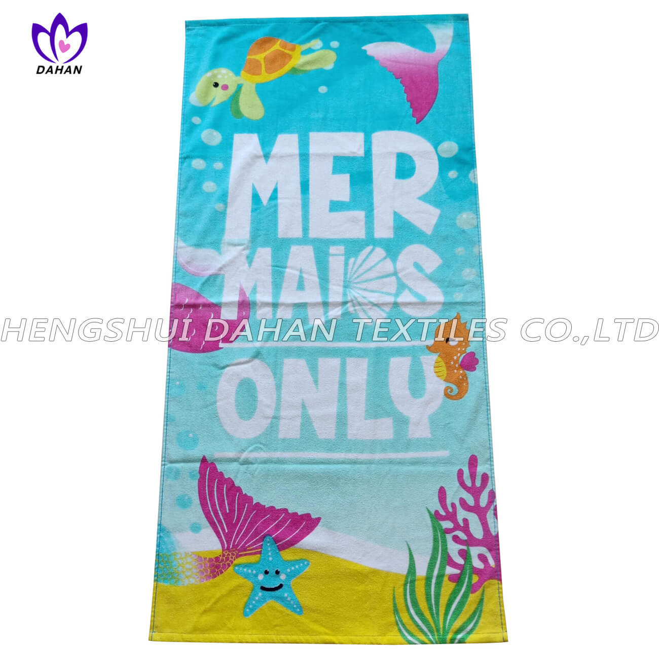 LL66 100%cotton reactive printing beach towel