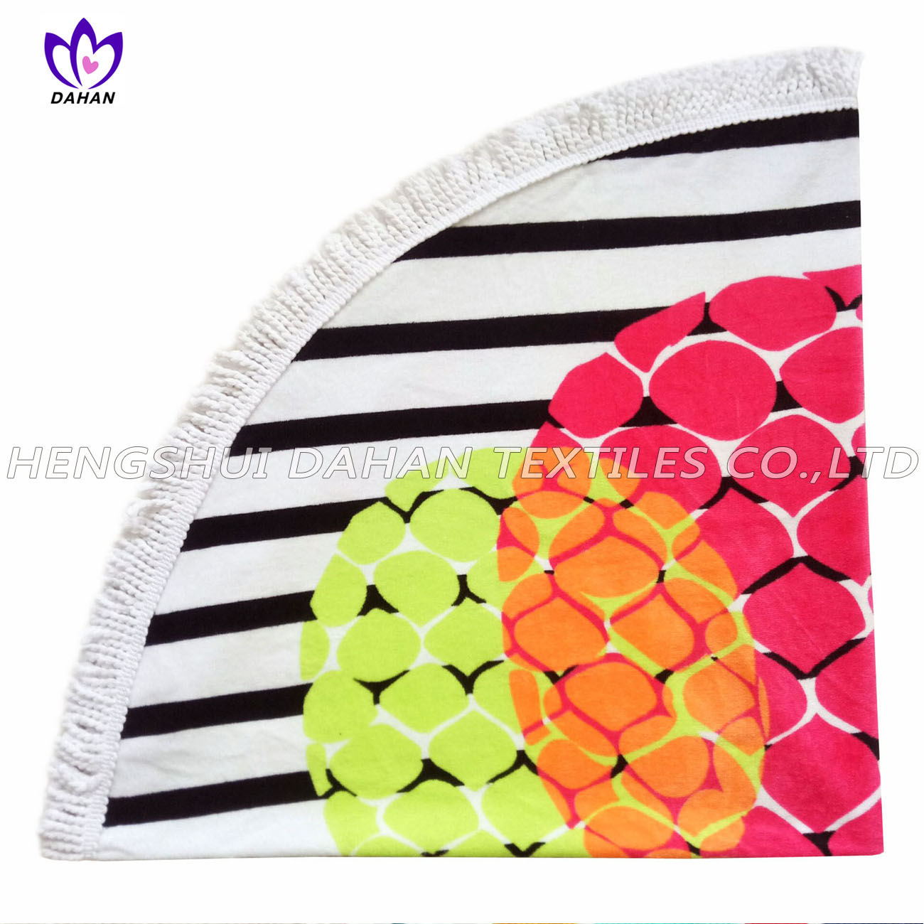 LL52 100%cotton reactive printing beach towel