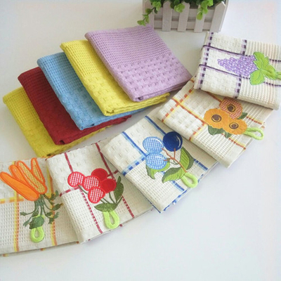 100%cotton hanging embroidery tea towel ,kitchen towel EM121