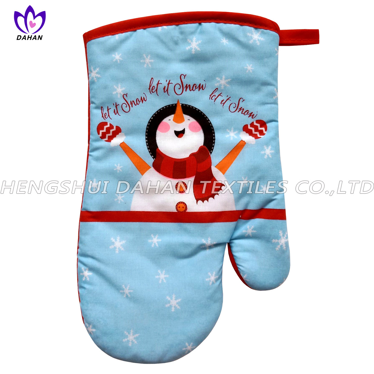 346F~1 printing glove,pot pad, microfiber towel 3pack--Christmas series