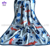 China supplier printed coral fleece blanket small size flannel blanket for kids