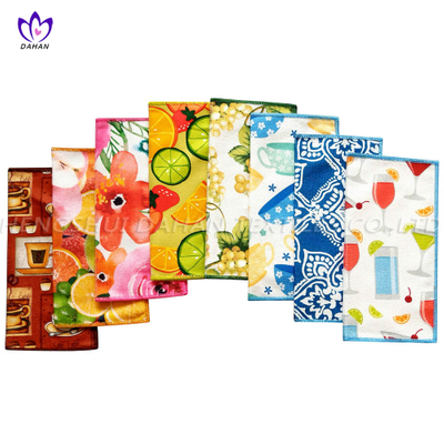 21127 6-Pack Printing microfiber kitchen towels.
