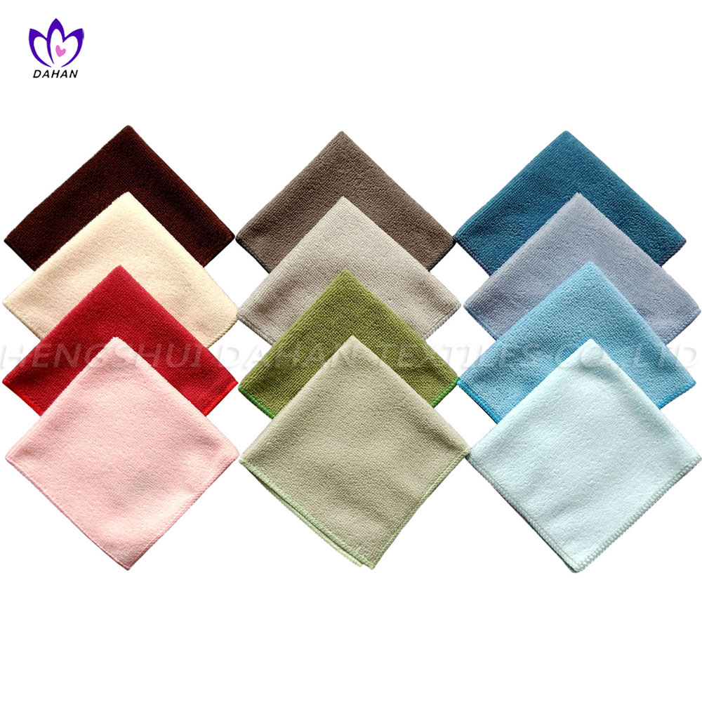 WC0309 Solid color microfiber wash cloths 8-pack.