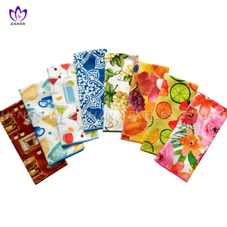 21127 3-Pack Printing microfiber kitchen towels.