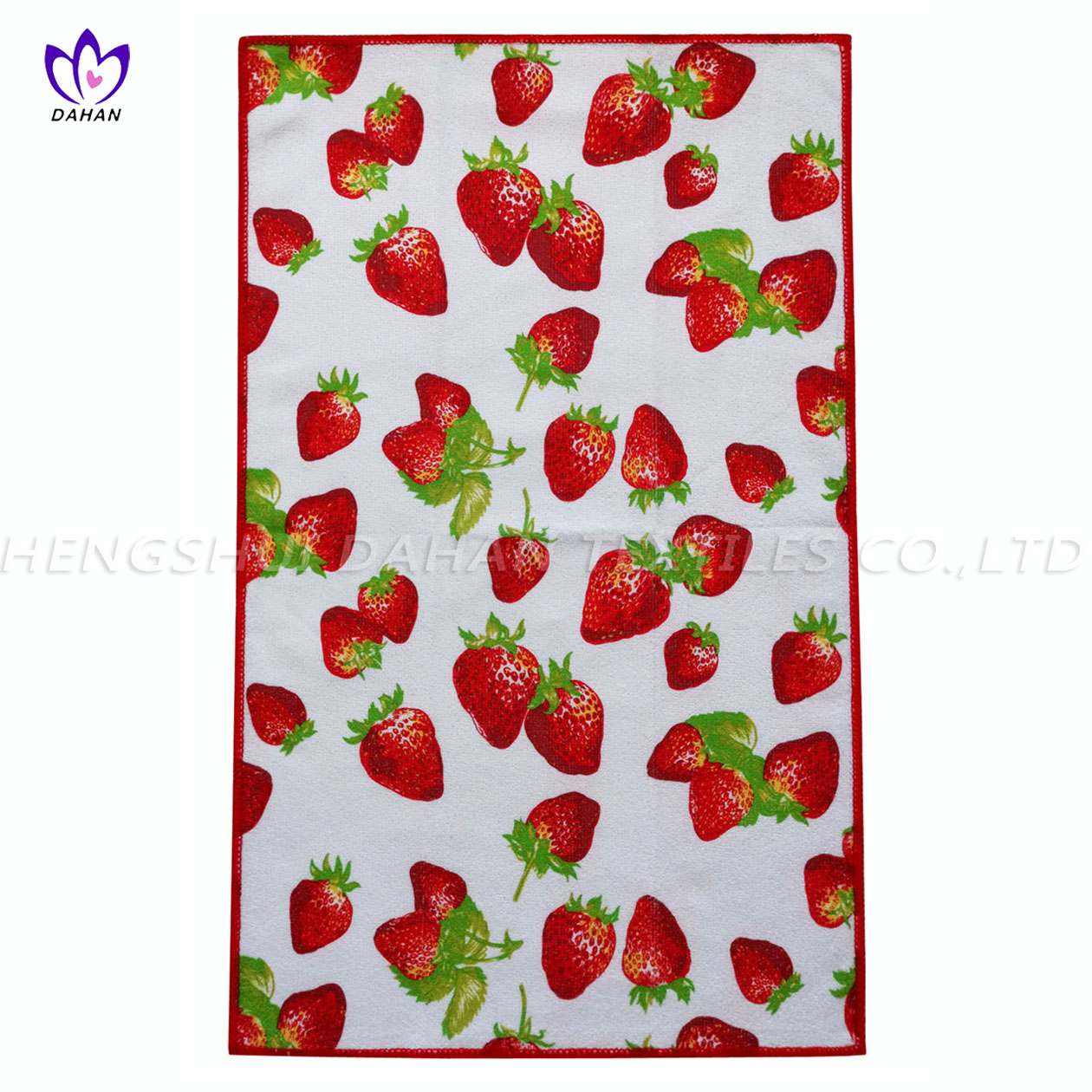 MC125.100% polyester printing microfiber kitchen towel.
